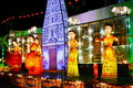 Lantern Performance (India) Royalty Free Stock Photo