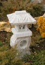 Lantern stone in japanese garden Royalty Free Stock Photography