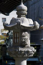Lantern at taiyu temple osaka japan in Stock Photo