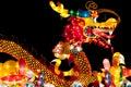 Lanterna do dragão no festival de lanterna de Singapore Fotografia de Stock Royalty Free