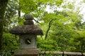 Lanterna giapponese antica Fotografie Stock