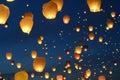 Lanterns, balloons fly to heaven.