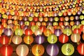 Lanterns colorful with flower pattern Stock Images