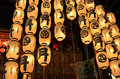 Lanterns of gion festival in japan kyoto city Royalty Free Stock Images
