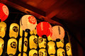 Lanterns of Gion festival in Japan Royalty Free Stock Photo