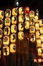 Lanterns of gion festival in japan kyoto city Stock Photography