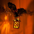 Lanterns with holy twigs christmas decoration hanging decorations sold during christmas market nobody macro background christmas Stock Images