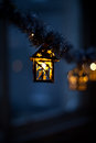 Lanterns with holy twigs christmas decoration hanging decorations sold during christmas market nobody macro background christmas Royalty Free Stock Photos