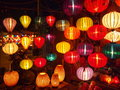 Lanterns in hue vietnam Stock Photo
