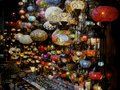 Lanterns of istanbul photo taken inside the grand bazaar colorful for sale Stock Photography