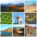 Lanzarote collage Royalty Free Stock Photography