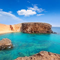Lanzarote El Papagayo Playa Beach in Canaries Royalty Free Stock Images