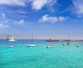 Lanzarote Playa Blanca beach in Atlantic Royalty Free Stock Photography