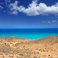 Lanzarote south Punta Papagayo sea in Canaries Stock Images
