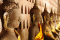 Lao, Vientiane-- Wat Si Saket Tempel Stockbild