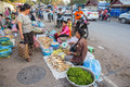 Laos vientiane jan vendor and costumer of lao selling and buying local foof and product in morning market vientiane on january Royalty Free Stock Images