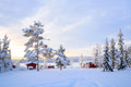 Lapland Winter landscape Sweden Stock Photo