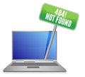 Laptop with a 404 error message Stock Images