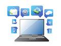 Laptop application icon Stock Photos