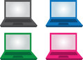 Laptop Colors Royalty Free Stock Photo