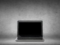 Laptop computer with black blank screen Royalty Free Stock Photo