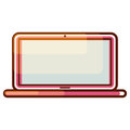 Laptop computer gradient icon vector. Royalty Free Stock Photo