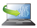 Laptop computer live help Stock Images