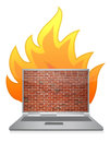 Laptop firewall Stock Photos
