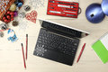 Laptop With Gifts And Coffee O...