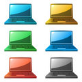 Laptop icons Royalty Free Stock Photo