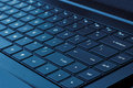 Laptop Keyboard (Blue Tone) Royalty Free Stock Image