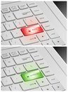 Laptop Keyboard with Lock and Unlock Buttons Royalty Free Stock Photo