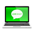 Laptop with Live Chat
