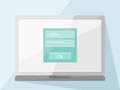 Laptop with login form flat design style eps file transparent object Royalty Free Stock Photos