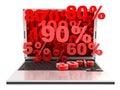 Laptop markdown Royalty Free Stock Photo