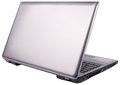 Laptop rear view isolated Royalty Free Stock Photo