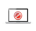 Laptop screen with the message forbidden illustration design over white Royalty Free Stock Photography