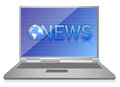 Laptop showing NEWS on screen Royalty Free Stock Photography