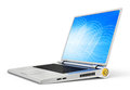 Laptop stylish on a white background Royalty Free Stock Photo