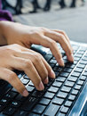 Laptop typing Royalty Free Stock Photo