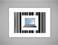 Laptop upc or barcode Royalty Free Stock Photo