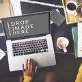 Laptop Working Technology Commercial Copy Space Concept Royalty Free Stock Photo
