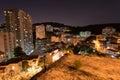 Laranjeiras District at Night, Rio de Janeiro Royalty Free Stock Photo