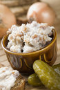 Lard with cracklings Royalty Free Stock Photo