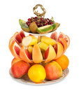 Large amount of fresh fruit Stock Photos
