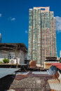 Skyscraper and metal rooftop apartments in Hong Kong Royalty Free Stock Photo