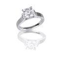 Large asscher cut modern diamond engagement wedding ring Royalty Free Stock Photo