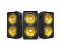 Large Audio Speakers Royalty Free Stock Photo