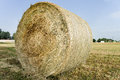 Large bale of straw Royalty Free Stock Images