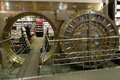 Large Bank Vault Door Opened in Bookstore Royalty Free Stock Photo